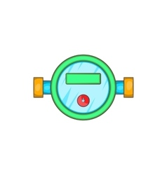 Water meter icon in cartoon style vector