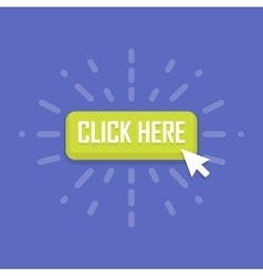 click here design over blue background vector image