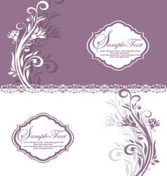 Floral vintage invitation vector
