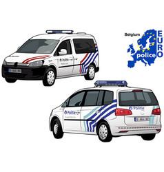Belgium police car vector