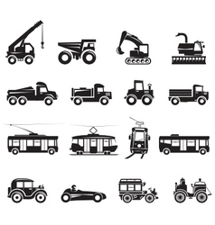 16 Transport Icon vector image