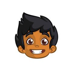 Cartoon small arab boy vector