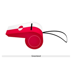A white and red whistle of greenland vector