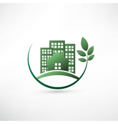 Green environmentally friendly real estate vector