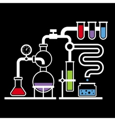 Chemistry laboratory infographic set 3 vector