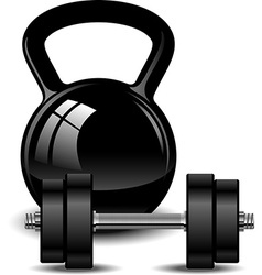 Kettlebell and dumbbell vector