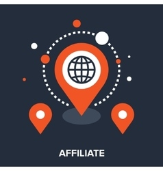 Affiliate office vector