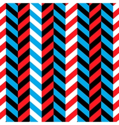 Seamless geometric blue and red pattern vector