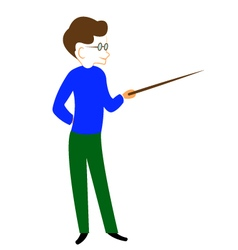 Boy with pointer vector