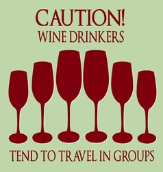 Wine drinkers vector