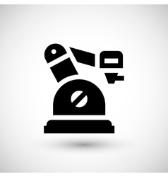 Robotic arm icon vector