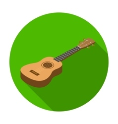 Acoustic bass guitar icon in flat style isolated vector