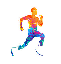 athlete runner abstract vector image vector image