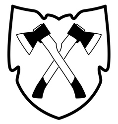 ax in shield icon vector image