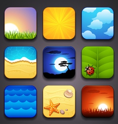background for the app icons-summer part vector image vector image
