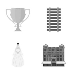 Business sport tourism and other monochrome icon vector