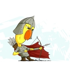 Chicken archer ready to action vector
