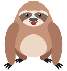 Cute sloth with happy face vector