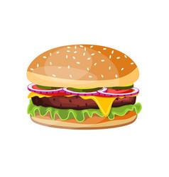 delicious hamburger icons vector image