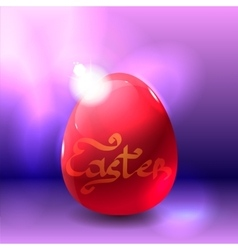 Easter background with shining egg vector image vector image