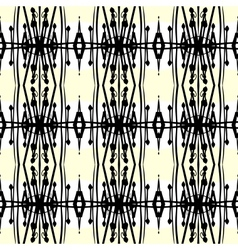 Geometric art deco pattern with thick black lines vector image