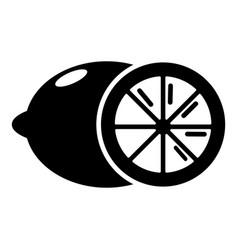 Lemon icon simple black style vector