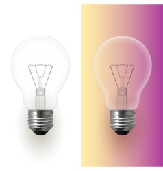 Light bulb isolated image vector image