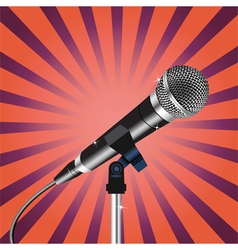 Microphone cord rays zoom vector