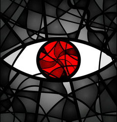 Red gray background eye vector