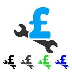 Repair pound price flat icon vector