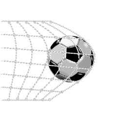 soccer goal vector image vector image