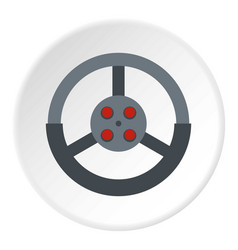 Steering wheel icon circle vector