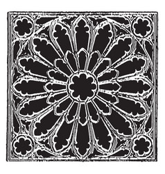 Tracery gothic vintage engraving vector