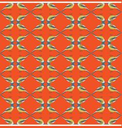 Winter yellow birds pattern seamless vector