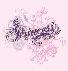 Wording of princess vector