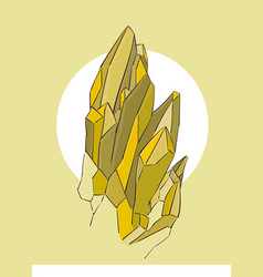 Yellow crystals on a beige background eps 8 vector
