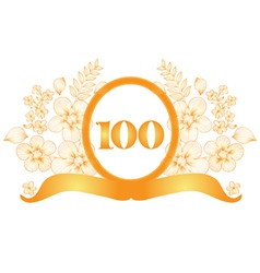 100th anniversary banner vector