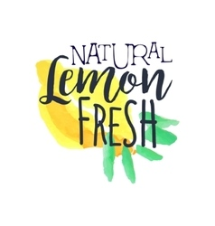 Lemon 100 Percent Fresh Juice Promo Sign vector image