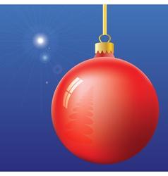 Christmas Eve First Star and ball vector image
