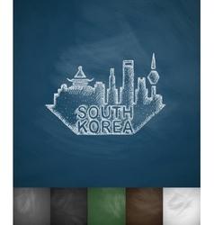 South korea icon hand drawn vector