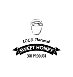 Honey jar  sketch style isolated on white vector image