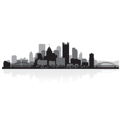 Pittsburgh USA city skyline silhouette vector image