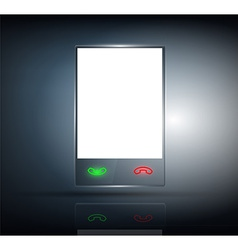 Phone with a transparent body on a dark background vector