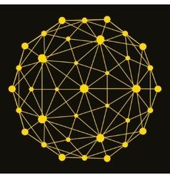 3D Molecule structure background Graphic design vector image vector image