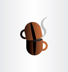 Coffee cup grain concept stylized icon vector