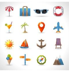 Travel Polygonal Icons vector image