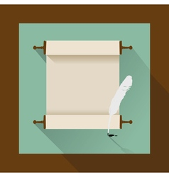 vintage jewish scrol flat vector image