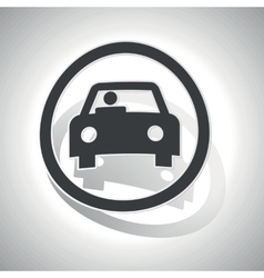 Curved car sign icon vector