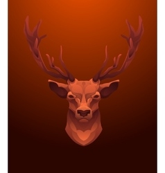 Vintage deer label retro design graphic vector