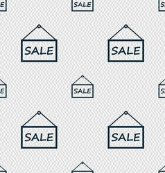 Sale tag icon sign seamless abstract background vector